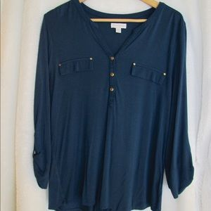 Blue Charter Club blouse